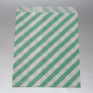 Oblique Stripes dark mint Party bitty bags Set of 25/ Πλάγιο ριγέ σκούρο mint χαρτινα σακουλακια Σετ των 25